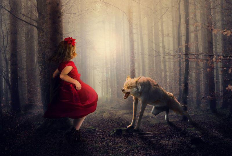 Η Κοκκινοσκουφίτσα και ο κακός λύκος